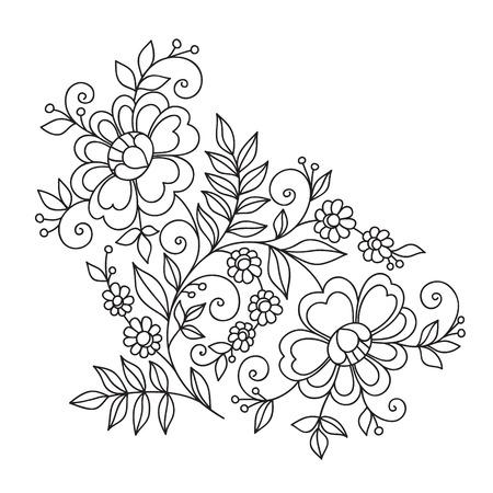 Illustration pour Flower design ornament element. - image libre de droit