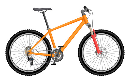 Illustration pour Vector orange bike isolated on white background - image libre de droit