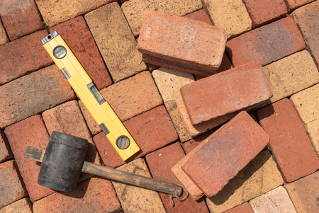 Photo for Tool for brick flooring - Royalty Free Image