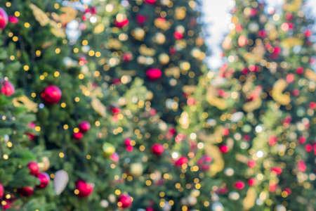 Foto de abstract blurred lights on background in blue, purple, orange colors. - christmas celebration concept - Imagen libre de derechos