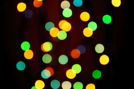 Photo for abstract blurred lights on background in blue, green, orange colors. - christmas celebration concept - Royalty Free Image