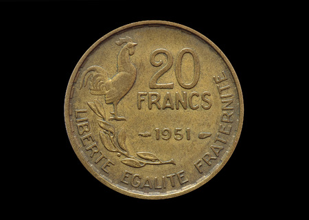 20 francs coin made 1951