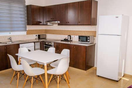 Photo pour Kitchen with furniture - image libre de droit