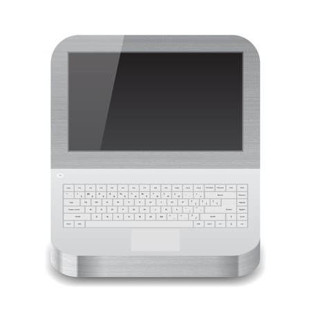 Icon for laptop with black display.