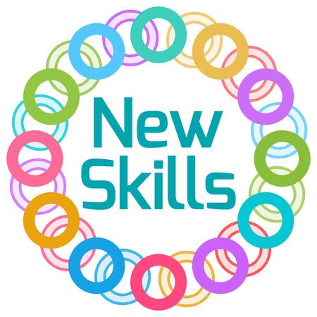 Photo pour New Skills Colorful Rings Circular - image libre de droit