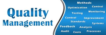 Quality Management Blue Keywords Banner