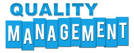 Quality Management Blue Stripes Alphabets