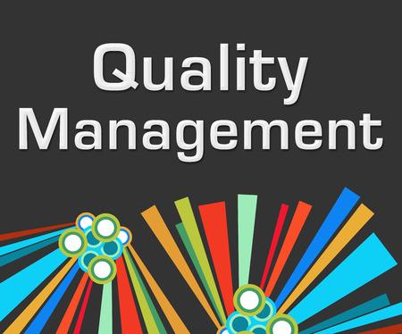 Quality Management Dark Colorful Elements