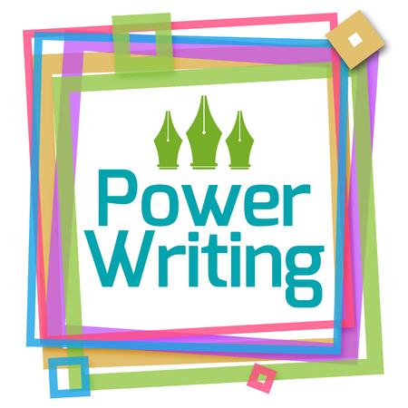 Power Writing Colorful Frame