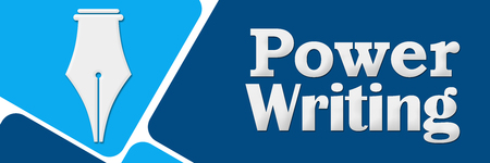 Power Writing Two Blue Color Squares