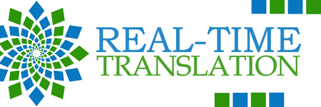 Real-Time Translation Green Blue Horizontal