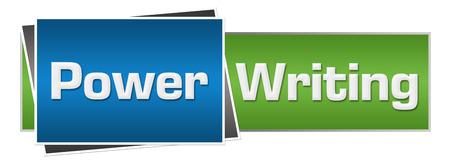 Power Writing Green Blue Horizontal
