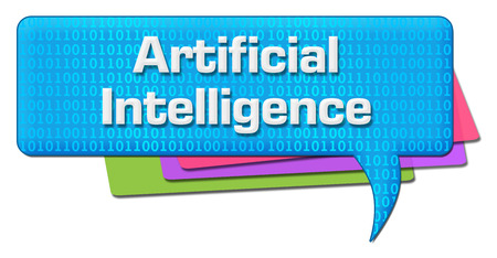 Artificial Intelligence Binary Colorful Comment Symbol