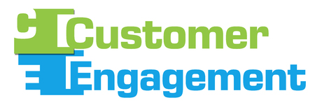 Customer Engagement Green Blue Abstract Stripes