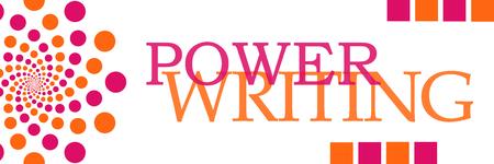 Power Writing Pink Orange Dots Horizontal