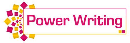 Power Writing Pink Gold Circular Bar