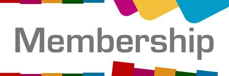 Photo pour Membership Colorful Shapes Background - image libre de droit