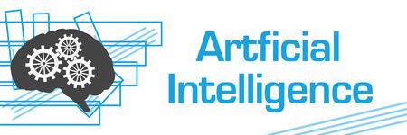 Artificial Intelligence Blue Strokes Symbol Horizontal