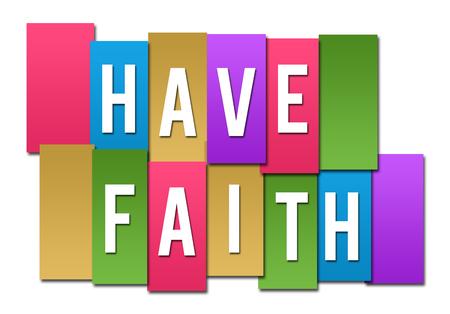 Have Faith Colorful Stripes Group