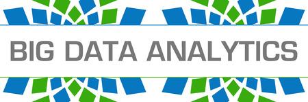 Photo pour Big Data Analytics Green Blue Texture Horizontal - image libre de droit