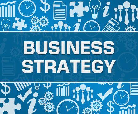 Foto de Business Strategy Business Symbols Texture Blue Background Square - Imagen libre de derechos