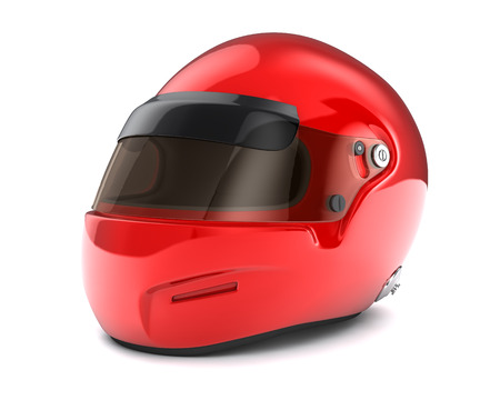 Red  helmet Isolated on white background