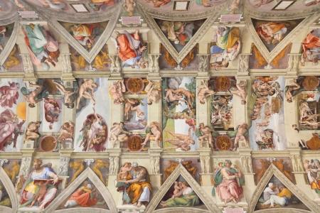 Sistine Chapel ceiling in Vatican, Rome