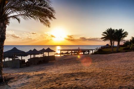 beatiful sunset on the beach