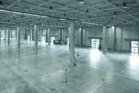 Photo for empty large modern warehouse, industrial area or factory - Royalty Free Image