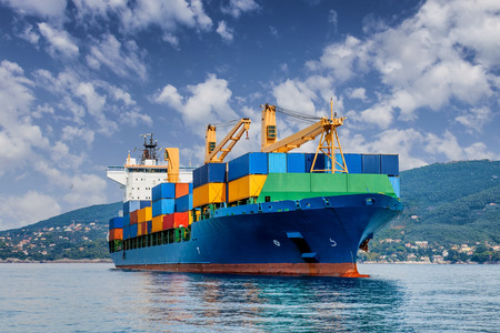 Photo for merchant container ship - Royalty Free Image