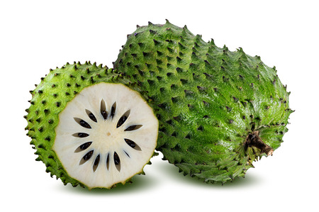 Foto de Annona muricata.Soursop fruit (Sugar Apple ,custard apple ) isolated on white background - Imagen libre de derechos