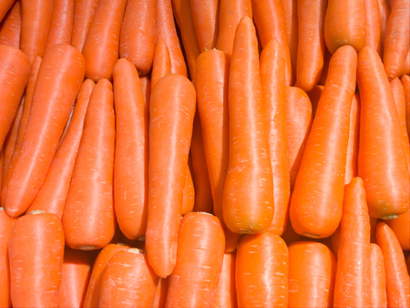 Fresh carrot in the grocery store