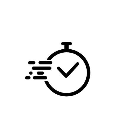 Illustration pour Time icon vector. Fast time vector icon. Deadline icon vector illustration - image libre de droit