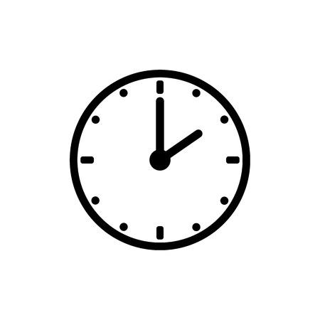 Illustration pour Clock icon, time icon vector - image libre de droit