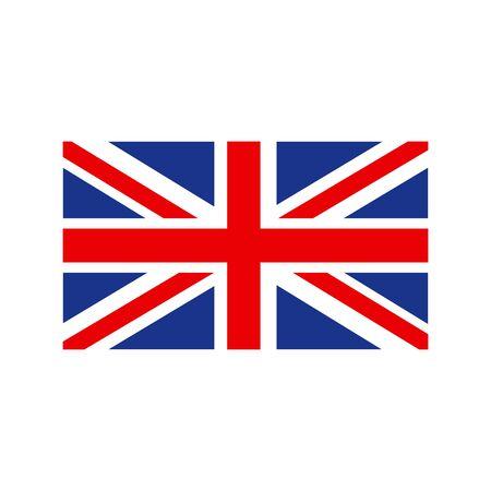 Illustration pour United Kingdom Flag. Flag of the Great Britain, British flag, Union Jack. Vector - image libre de droit