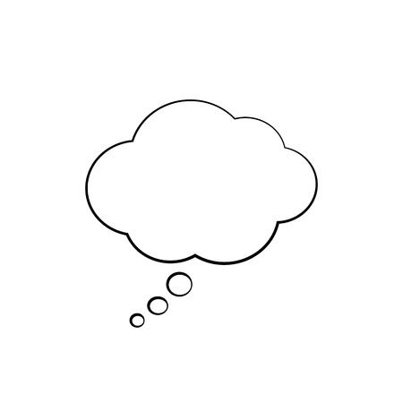 Illustration pour Isolated think cloud. Vector illustration - image libre de droit