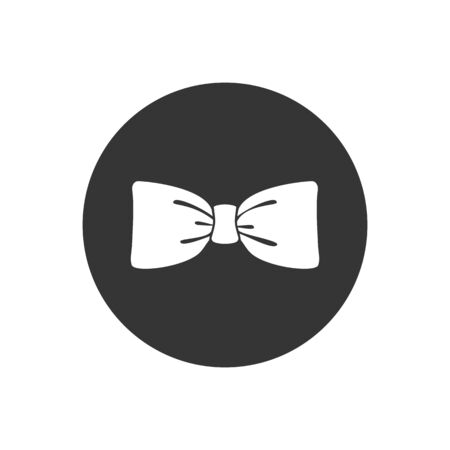 Black bow tie vector icon isolated on white background