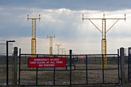 Emergency access gate to airfield