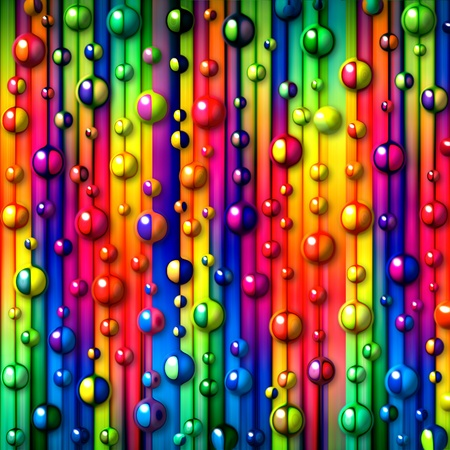 Photo pour colorful stripes and bubbles abstract background - image libre de droit