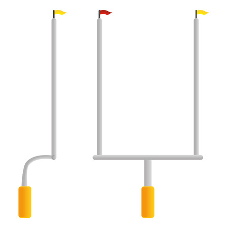 Football Goal Post  Isolated On White Background