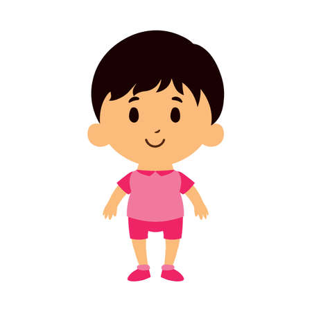 Illustration for Isolated Cartoon Kid Character european boy - Vector - Royalty Free Image