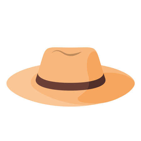 Illustration for Isolated hat beach summer holiday icon- Vector - Royalty Free Image