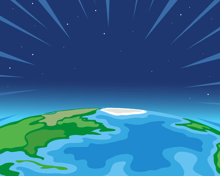 Planet Earth from space illustration backgrounds