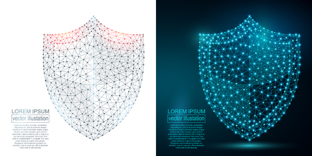 Ilustración de Polygonal security shield abstract image. - Imagen libre de derechos