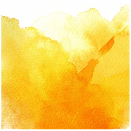 great yellow watercolor background - watercolor paints on a rough texture paper