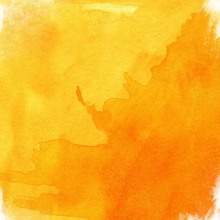 Sunny Orange Watercolor Wallpaper Mural