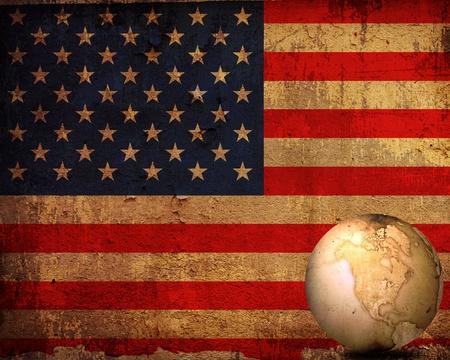 aged America map-vintage artwork