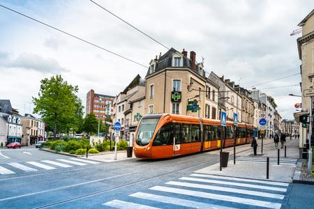 LE MANS, FRANCE - April 28, 2018: tramway in Le Mans, France