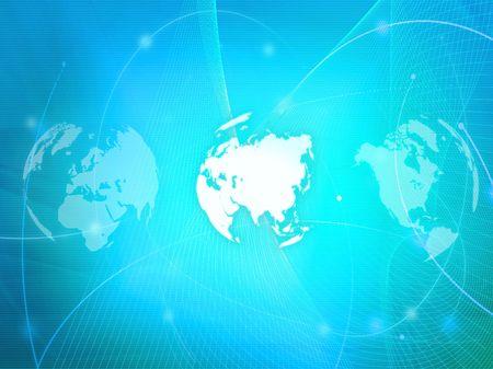 Photo pour Asia map technology-style artwork - image libre de droit