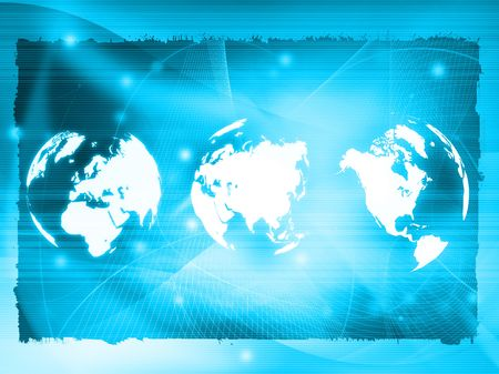 Photo for world map technology style - Royalty Free Image